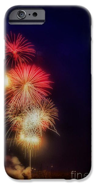 Fourth Of July iPhone Cases - Haror Lights iPhone Case by Skip Willits
