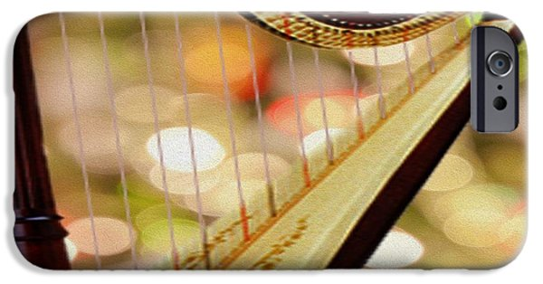 Gut iPhone Cases - Harp iPhone Case by Cheryl Young
