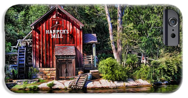 Modern World Photography iPhone Cases - Harpers Mill - Digital Painting  iPhone Case by Lee Dos Santos