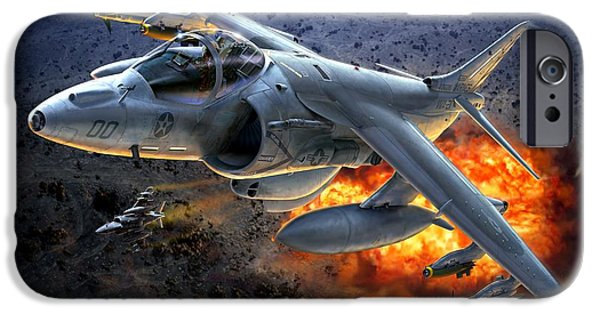 Iraq Digital iPhone Cases - Harrier By Night iPhone Case by Stu Shepherd