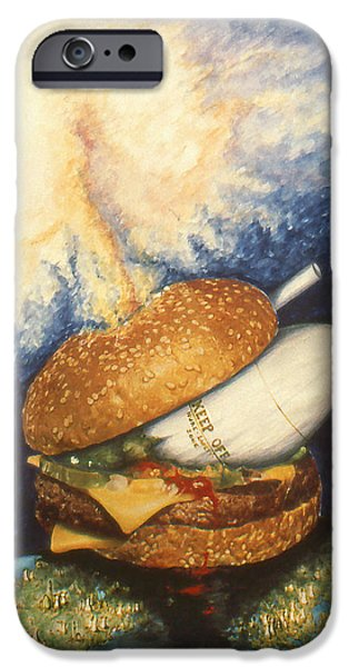 Fukushima iPhone Cases - Harrisburg Chernobyl Fukushima - Nuclear Art Painting iPhone Case by Peter Fine Art Gallery  - Paintings Photos Digital Art