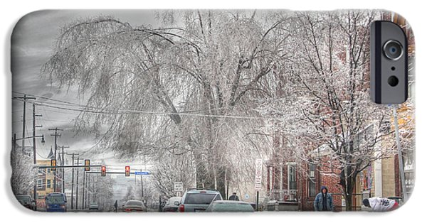 Winter Storm iPhone Cases - Harrisburg on Ice iPhone Case by Lori Deiter