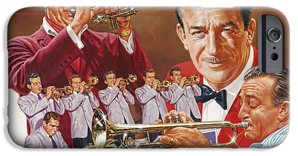 Hits iPhone Cases - Harry James Trumpet Giant iPhone Case by Dick Bobnick