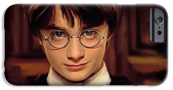 Daniel iPhone Cases - Harry Potter iPhone Case by Paul Tagliamonte