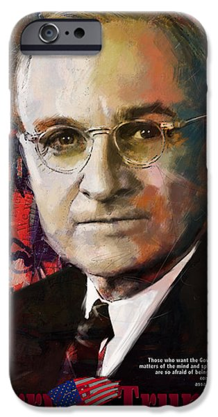 Thomas Jefferson Paintings iPhone Cases - Harry S. Truman iPhone Case by Corporate Art Task Force