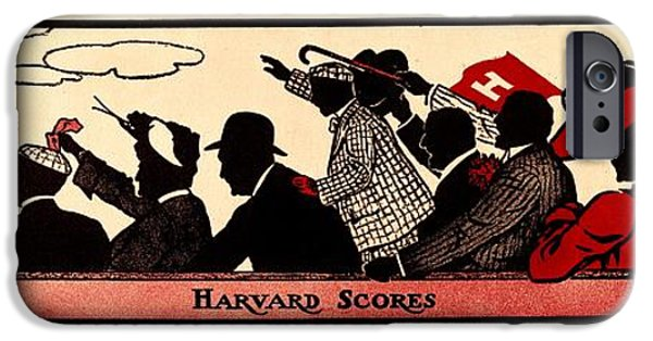 Recently Sold -  - Boston iPhone Cases - Harvard Scores 1905 iPhone Case by Benjamin Yeager