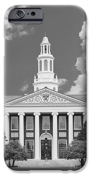 Business Photographs iPhone Cases - Harvard University Baker Bloomberg iPhone Case by University Icons