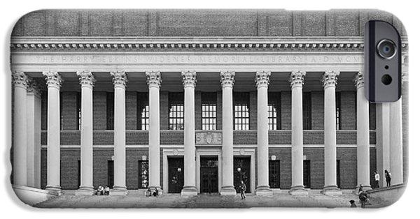 Cambridge iPhone Cases - Harvard University Widener Library iPhone Case by University Icons
