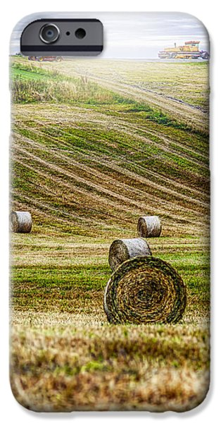 Agricultural iPhone Cases - Harvest Day iPhone Case by Erik Brede