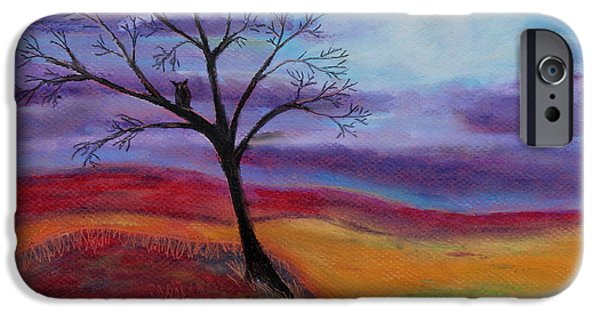 Dark Skies Pastels iPhone Cases - Harvest Moon 3 iPhone Case by Jeanne Fischer