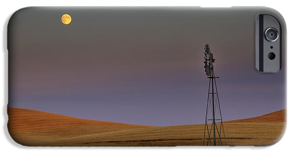 Spokane iPhone Cases - Harvest Moon iPhone Case by Mark Kiver