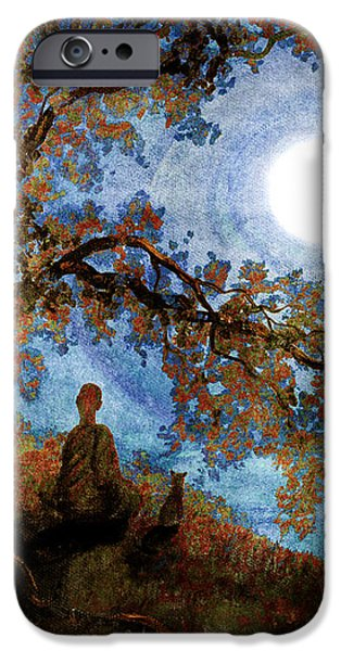 Harvest Moon Meditation iPhone Case by Laura Iverson