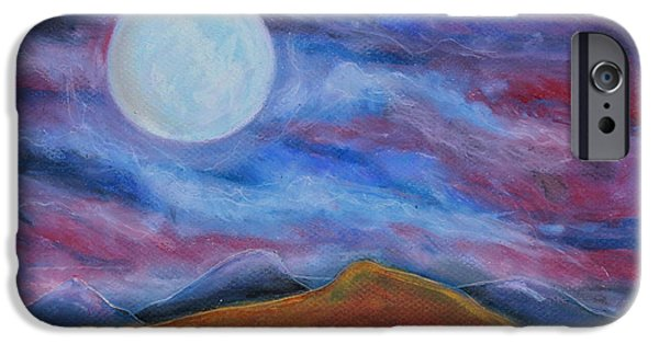 Dark Skies Pastels iPhone Cases - Harvest Moon2 iPhone Case by Jeanne Fischer
