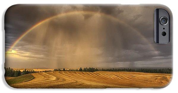 Spokane iPhone Cases - Harvest Rainbow iPhone Case by Mark Kiver