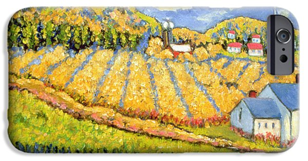 Quebec Paintings iPhone Cases - Harvest St Germain Quebec iPhone Case by Patricia Eyre