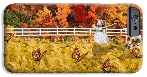 Freedom iPhone Cases - Harvest Time iPhone Case by Dolores Develde