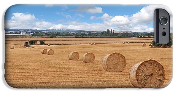 Interior Scene iPhone Cases - Harvest Time iPhone Case by Gill Billington