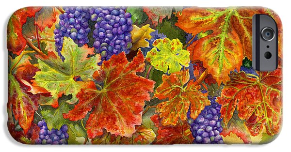 Grape Vine iPhone Cases - Harvest Time iPhone Case by Karen Wright