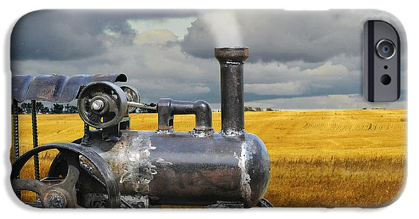 Farm Sculptures iPhone Cases - Harvest Time iPhone Case by Ric Pollock