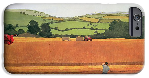 Combine iPhone Cases - Harvesting In The Cotswolds iPhone Case by Maggie Rowe