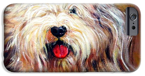 Becky iPhone Cases - Harvey the Sheepdog iPhone Case by Rebecca Korpita