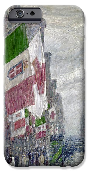 Hassam iPhone Cases - Hassam: Italian Day, 1918 iPhone Case by Granger