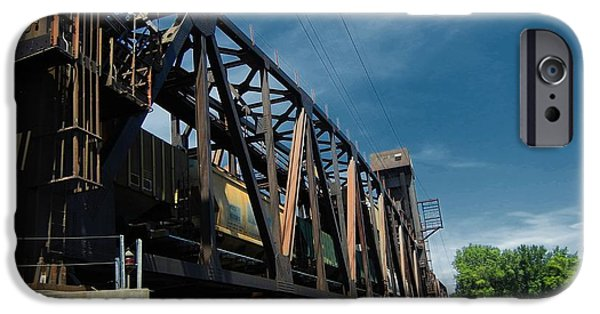 Machinery Mixed Media iPhone Cases - Hastings Train Bridge 2 iPhone Case by Todd and candice Dailey