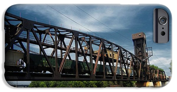 Machinery Mixed Media iPhone Cases - Hastings Train Bridge 3 iPhone Case by Todd and candice Dailey