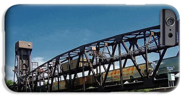 Machinery Mixed Media iPhone Cases - Hastings Train Bridge iPhone Case by Todd and candice Dailey