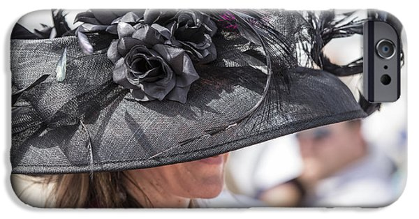 Kentucky Derby Photographs iPhone Cases - Hat at 2014 Kentucky Derby iPhone Case by John McGraw