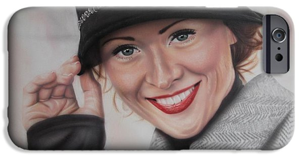 Airbrush iPhone Cases - Hat iPhone Case by Jackie Mestrom