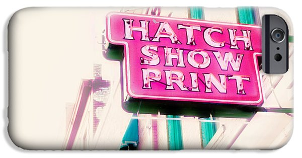 Graphic Design iPhone Cases - Hatch Show Print iPhone Case by Amy Tyler