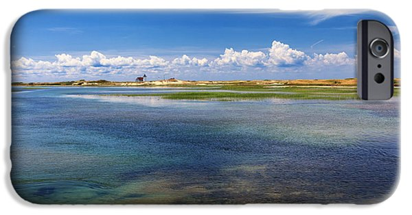 Cape Cod Lighthouses iPhone Cases - Hatches Harbor iPhone Case by Bill  Wakeley