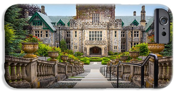 Vancouver Photographs iPhone Cases - Hatley Castle iPhone Case by Inge Johnsson