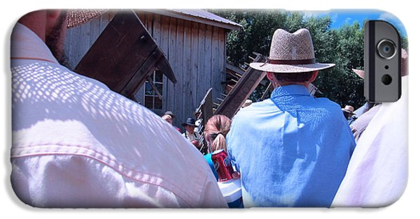 Amish Community Photographs iPhone Cases - Hats and Shirts iPhone Case by Tina M Wenger