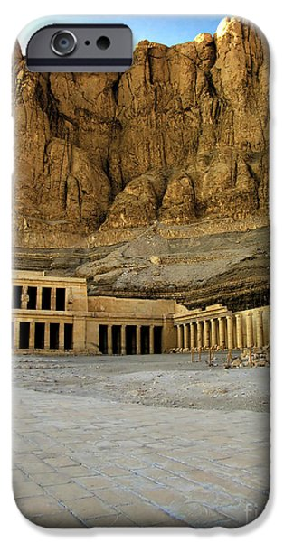 Thebes iPhone Cases - Hatshepsut temple 01 iPhone Case by Antony McAulay