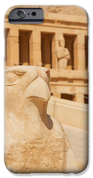 Hatchepsut iPhone Cases - Hatshepsut Temple  iPhone Case by Jaroslav Frank