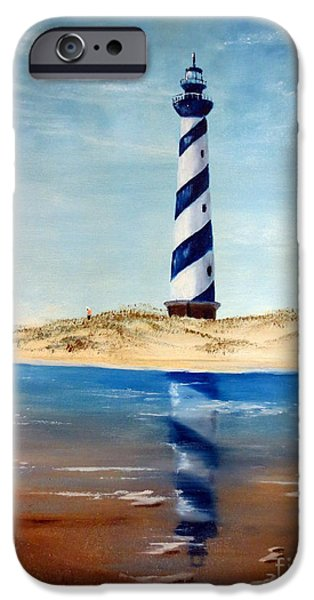 Hatteras Lighthouse iPhone Case by Lee Piper