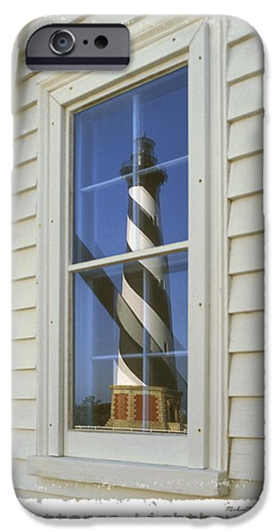 Lighthouse iPhone Cases - Hatteras Lighthouse  S P iPhone Case by Mike McGlothlen