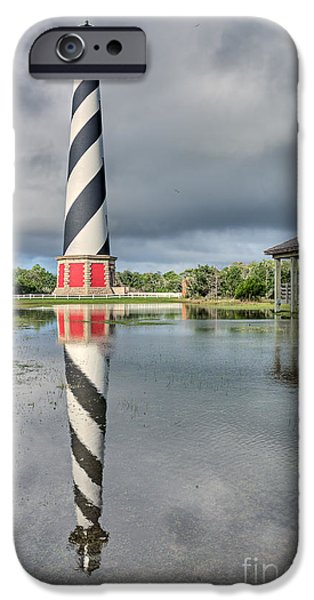Safety Pyrography iPhone Cases - Hatteras Reflection iPhone Case by Dan Waters