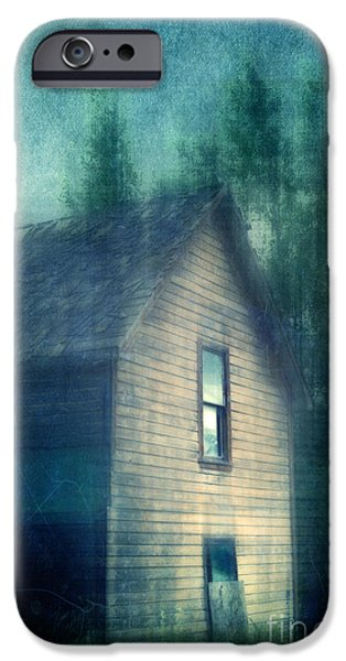 Wooden Building iPhone Cases - Haunted by the past iPhone Case by Priska Wettstein