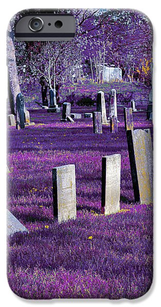Haunted Cemetery iPhone Case by Alys Caviness-Gober