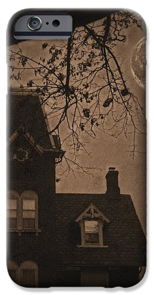 Haunted House Digital Art iPhone Cases - Haunted iPhone Case by DJ Florek