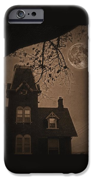 Haunted House Digital iPhone Cases - Haunted iPhone Case by DJ Florek
