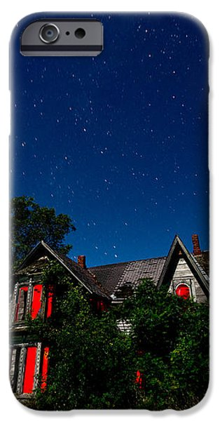 Haunted Farmhouse at Night iPhone Case by Cale Best