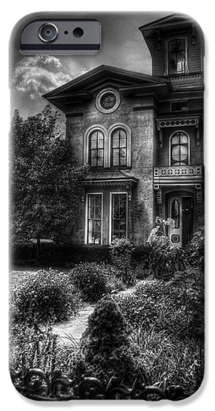Strange iPhone Cases - Haunted - Haunted House iPhone Case by Mike Savad