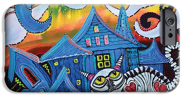 Haunted House iPhone Cases - Haunted Hollow iPhone Case by Laura Barbosa