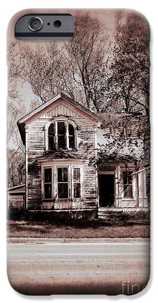 Eerie iPhone Cases - Haunted House iPhone Case by Birgit Tyrrell