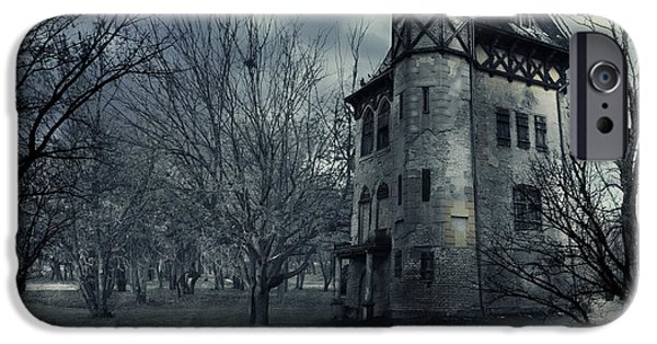 Haunted House Digital Art iPhone Cases - Haunted house iPhone Case by Jelena Jovanovic