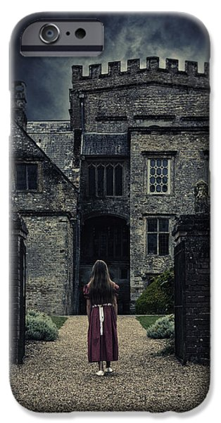Haunted House iPhone Cases - Haunted House iPhone Case by Joana Kruse